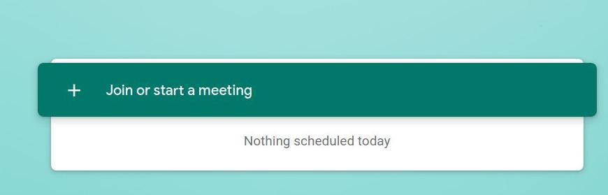 Google Meet - Join or start a meeting button