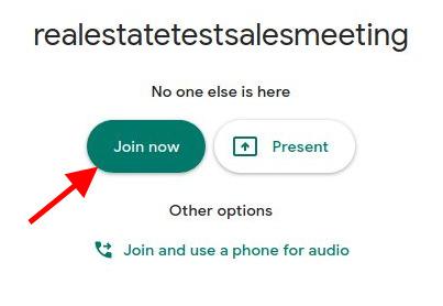 Google Meet - Join Now button