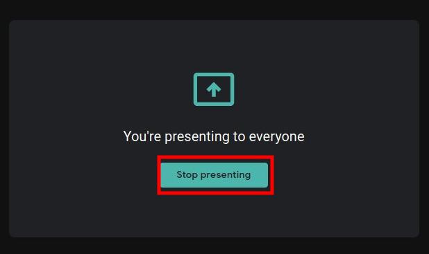 Google Meet - Presentation WIndow