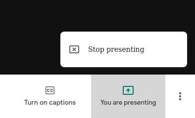 Google Meet - Stop Presenting Option