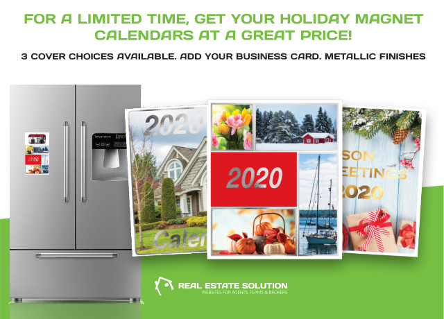 Holiday Calendar Magnets from Real Estate Solution