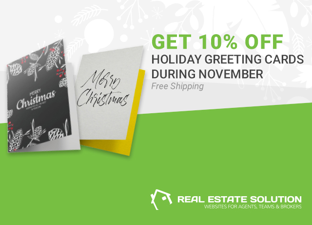Save 10% on Holiday Greeting Cards from Real Estate Solution