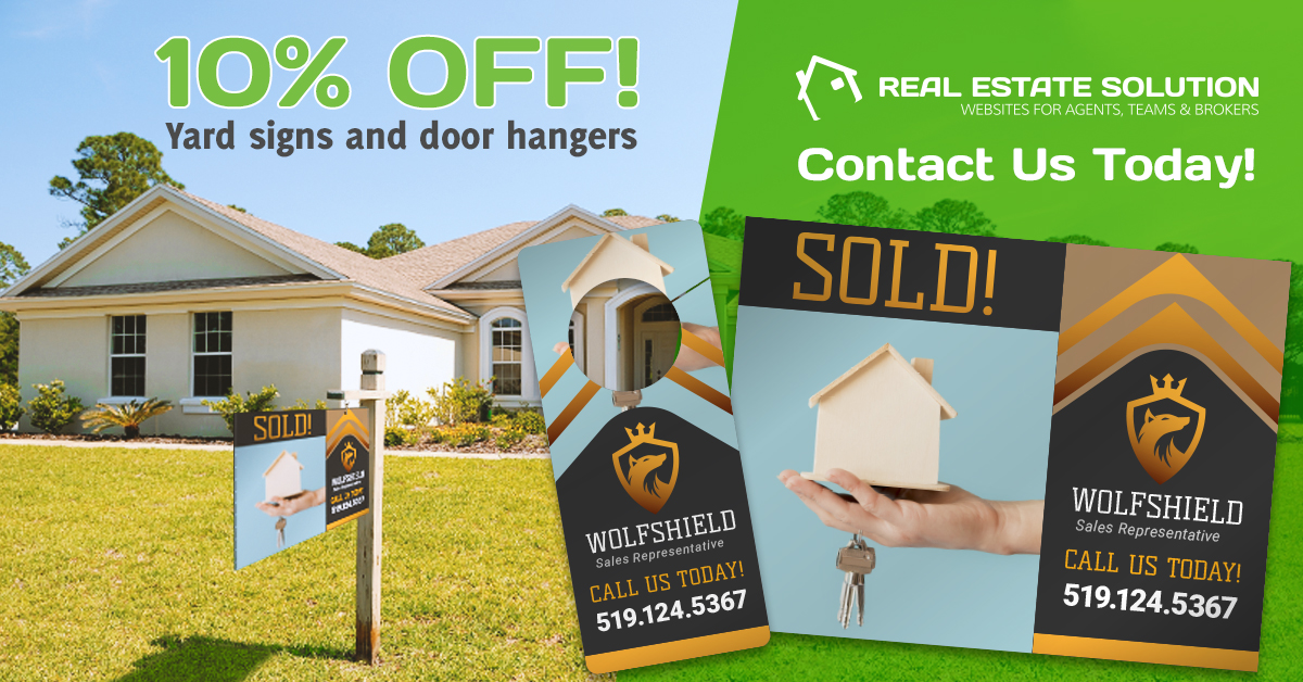 10% Off Yard Signs and Door Hangers!