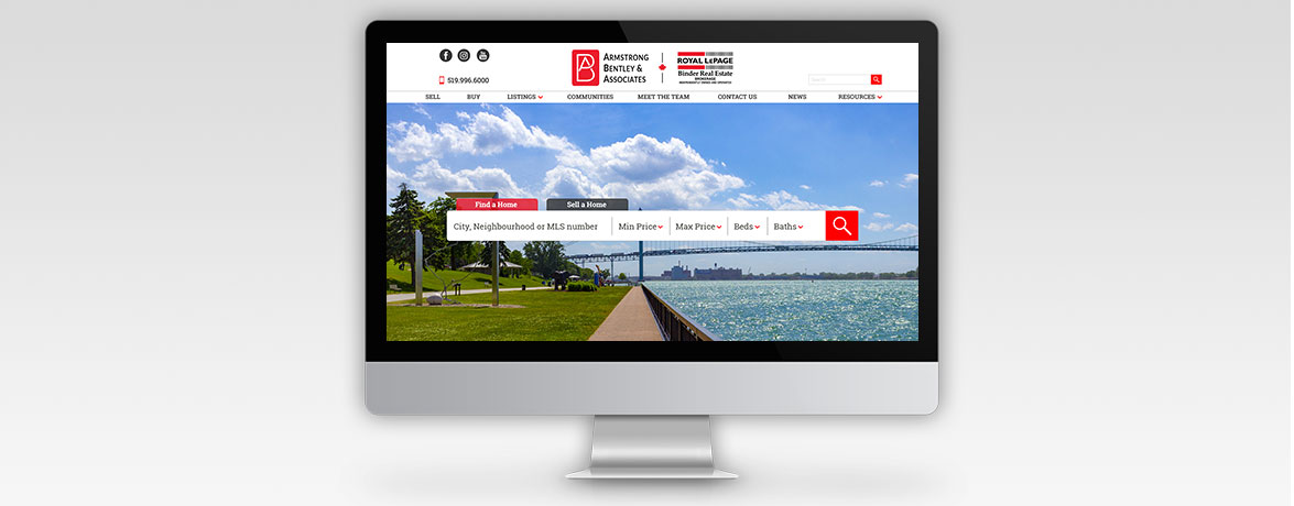 Armstrong, Bentley & Associates - Real Estate Team Website Homepage Design