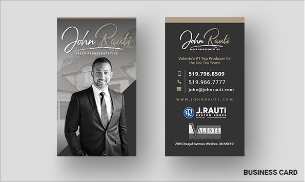 John Rauti Business Card Designs
