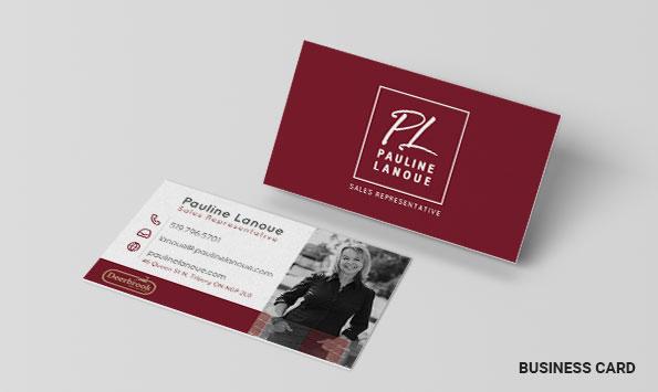 Pauline Lanoue - Business Card Designs