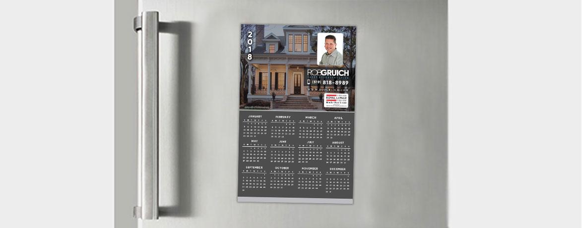 Rob Gruich Custom Real Estate Print Design - Calendar