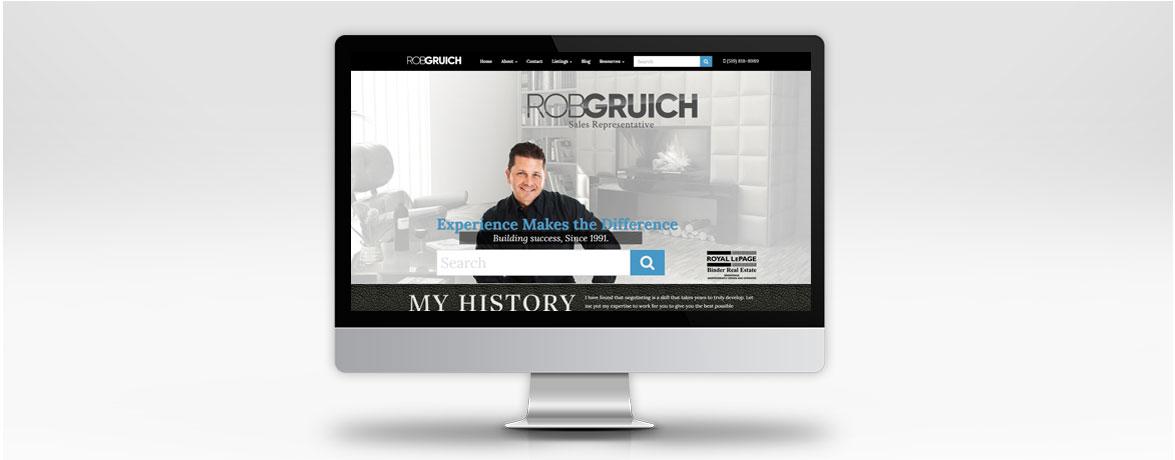 Rob Gruich Custom Real Estate Website - Desktop View