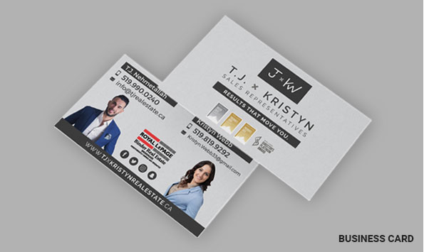TJ x Kristyn Real Estate Team - Business Card Designs